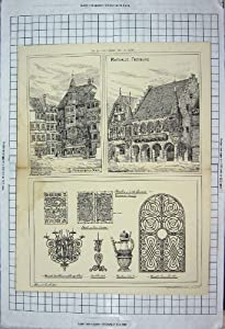 Architektur Hauptleitung 1880 Frankfurten Würstchens Rathaus Freiburg