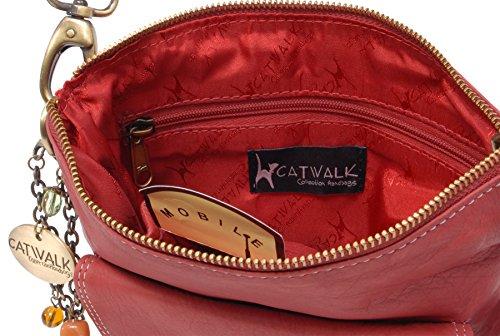Borsa in pelle a tracolla signé Catwalk Collection