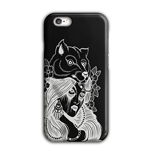 Stamm Mädchen Wolf Mode Verrückt Hut iPhone 6 / 6S Hülle | (Hut Kostümen Wolf)