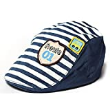 #7: Fullkang Lovely Baby Boy Girl Stripes Baseball Cap Summer Peaked Beret Hat (Dark Blue)