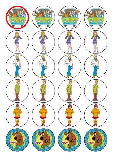 24 Scooby Doo Kuchendeckel (Cupcake Toppers Doo Scooby)