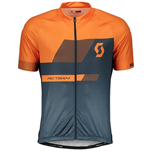 Scott RC Team 10 Fahrrad Trikot kurz blau/orange 2018: Größe: XL (54/56)