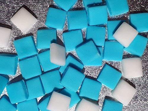ecraft-Quadrate, essbar, Türkis / Blau / Weiß, 100 Stück ()
