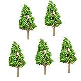 Sharplace 5pcs Moos Micro Landschaft Baum Deko Figur Weihnachtsdeko Winterfigur Dekofiguren Weihnachtsdekofigur Weihnachtsfiguren Winterdekoration Set - Kiefer S, 20x43mm