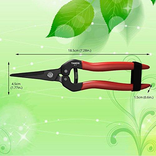 tabor-tools-k-7-bypass-gartenschere-kompakte-multi-gartenschere-mini-blumenschere-floristenschere-ernteschere-floristikschere-leseschere-traubenschere-gerade-klingen-3