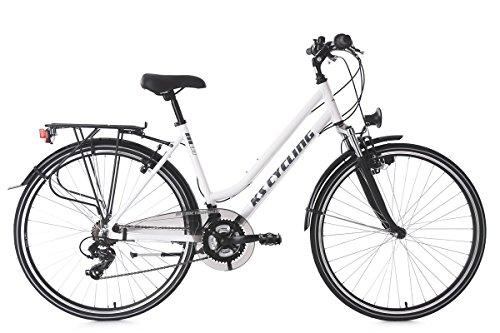 "KS Cycling Damen Trekkingrad Alu-Rahmen 28"" Metropolis 53 cm Flachlenker Fahrrad, weiß"