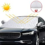 solawill Couverture Pare-Brise Voiture, Bâche Pare Brise Protection Repliable...