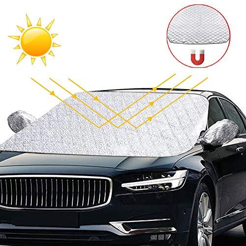 solawill Frontscheibenabdeckung , Auto Scheibenabdeckung Sonnenschutz Scheibenabdeckung Magnet UV-Schutz Auto Abdeckung für Windschutzscheibe gegen UV-Strahlung, Sonne, Staub, Schnee, EIS, Frost