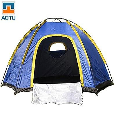 Docooler 3-4 Personen Camping Zelt/Tour Zelt, UV Resistente Outdoor Travel Tragbare, Einem Kleinen und Ultra Light Paket, Einfach für das Tragen und Lagerung