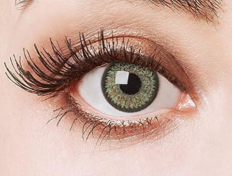 aricona Farblinsen farbig grüne Cosplay Kontaktlinsen – Natürliche Circle Lenses, bunte farbige Jahreslinsen, Linsen für Anime & Manga Looks, für helle (Kostüm Farbige Kontakte Günstige)