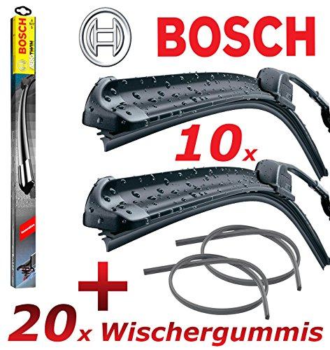 BOSCH AEROTWIN A636S 3397007636 Scheibenwischer 650 / 650 + 2x GELAN Ersatz Wischergummis - SET [ VORTEILSPAKET ]