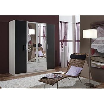 Dreams4Home Drehtürenschrank U0027Isa XL, Schlafzimmer, Schrank, Weiß,  Anthrazit, Schwarz,