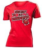 Verkleidet als Marienkäfer 2635 Karneval Kostüm Faschingskostüm Damen Fun-T-Shirts Rot M