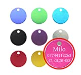 Quality 22mm Round Anodised Pet Id Tag & Ring,...