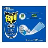 Raid difusor eléctrico en pastillas, 10recambios, mosquitos y mosquitos tigres, sin olor, insecticida