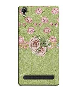 PrintVisa Designer Back Case Cover for Intex Aqua Power Plus :: Intex Aqua Power + (Rose Flowers Buds Garden )