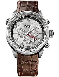 Hugo Boss Herren-Armbanduhr XL Chronograph Quarz Leder 1512739