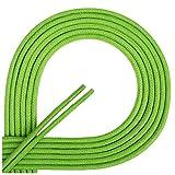 Di Ficchiano-SW-03-green.128-60 Gewachste Runde Schnürsenkel, Schuband, Laces, Durchmesser 2-4 mm für Businessschuhe, Anzugschuhe und Lederschuhe