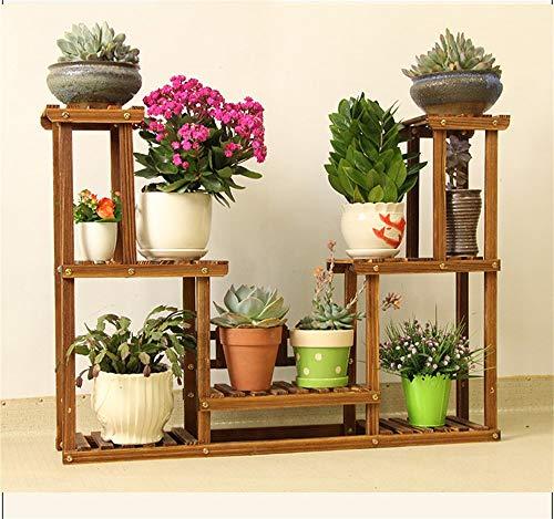 ChenDz Support de fleurs sur pied au sol en bois massif européen créatif en bois intérieur pot de fleur assemblée balcon balcon salon simple moderne (Size : 94cm*19cm*70cm)