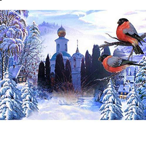 UPUPUPUP Diamant mosaik volle runde Bohrer Schnee Vogel Muster 5d DIY Diamant malerei kreuzstich Handarbeit Hobby Dekoration 30x40cm