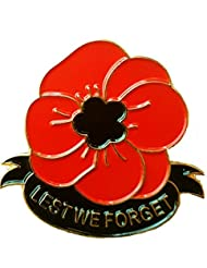 Pin's/badge coquelicot avec inscription Lest We Forget