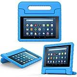 MoKo Amazon Fire 2016 HD 8 Case - Custodia Protettiva Antiurto con Supporto per Bambini per Fire HD 8 Tablet (6ª Gen, precedente Modello 2016), Blu