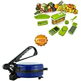 Kingsburry Combo Of Blue Roti Maker With Free Vegetable Slicer (Product Colour May Vary) - B077M925TD