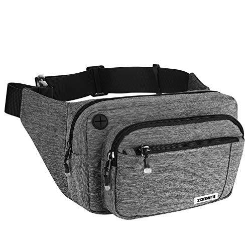 Speedsporting Gürteltasche Bauchtasche Damen Herren Wasserabweisende Hüfttasche mit Reißverschluss Bauchbeutel für Damen und Herren Outdoor Gurttasche Zum Wandern Hip Bag