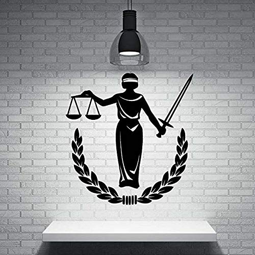 FTFTFTF Wandaufkleber Küchenbaum Kinder 22x26 Zoll Griechische Göttin der Gerechtigkeit Vinyl Wandaufkleber Wohnkultur,1