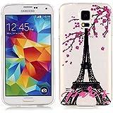 Samsung Galaxy S5 Neo/Galaxy S5 Funda , TUTUWEN Transparente TPU Suave Carcasa Funda Anti-Arañazos Parachoques Funda Cover para Samsung Galaxy S5 Neo G930F /Galaxy S5 G900