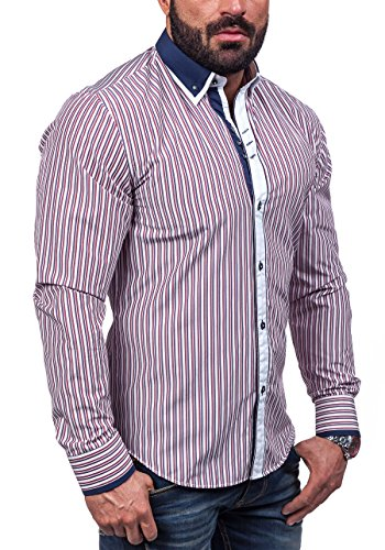BOLF– Chemise casual – manches longues – BOLF 6884 - Homme Rouge
