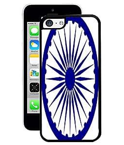 Fuson 2D Printed Indian Flag Chakra Designer Back Case Cover for Apple iPhone 5C - D1000