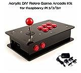 Acrylic DIY Retro Game Arcade Kit, for Raspberry Pi 3/2/B+.