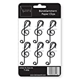 Paper clips G-clef (6 pcs) - STATIONERY