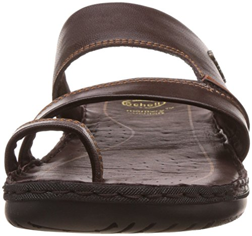 7a1dc67a8 Dr. Scholl s Men s Sam Toe Ring Brown Leather Hawaii Thong Sandals - 9 UK