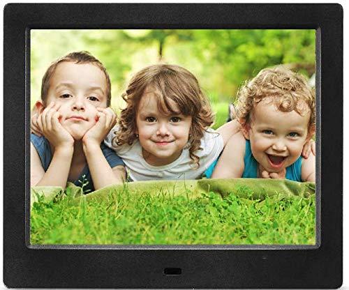 MRQ 8 Inch Digitaler Bilderrahmen HD 1080P Unterstützt 178 Grad IPS Display 4: 3 Elektronisches Bild Video Rahmen mit MP3, E-Book, Kalender, Fernbedienung, USB und SD-Kartensteckplatz