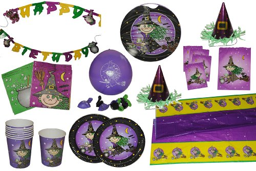 8 tlg. Set Luftballons kleine Hexe Zauberin Ballon Kindergarten Kindergeburtstag Party Deko Zauberer (Hexe Zauberin)