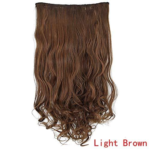 JiaMeng Femme Naturelle Perruque U Perruque Cheveux Longs Femme Perruque Cheveux Bouclés Femme Human Hair Wig Réaliste La Vie Quotidienne Aller au Travail Sortir Coiffures Wigs
