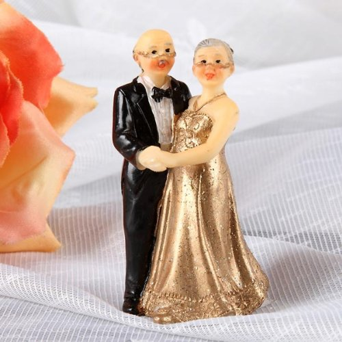 Udo Schmidt Small decorative figure for gold wedding (7 cm)