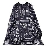 Manalada Manalada® Wasserdicht Oilcloth Schürze Friseursalon Haircut Schneiden Cape-Kleid-Tuch