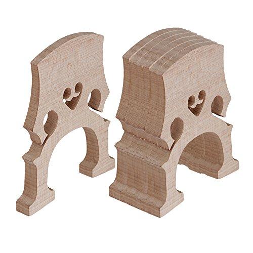 e 4/4Cello Brücke Holz Farbe Set von 5 (Cello Saiten Set 4 4)