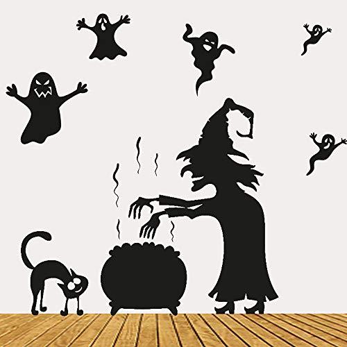 wandaufkleber wandtattoos Ronamick Glücklich Halloween Home Haushalt Zimmer Wandaufkleber Wandbild Dekor Aufkleber Abnehmbar Sticker Wanddeko (A)