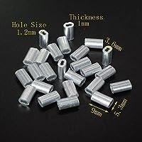 """Crimpadora de aluminio cierre de funda para 3/64""""Diámetro Cuerda De Alambre Y Cable, (Pack de 100)"""