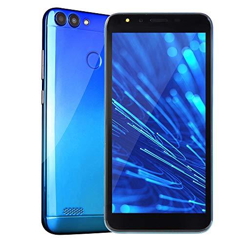 Smartphone, Colorful 5.5''Ultrathin Android 6.0 Octa-Core 512MB RAM+ 4G ROM GSM WiFi Dual-SIM-Dual-Kamera Unlocked Smart-Handy (Blau) (Unlocked Gsm Dual-kamera)