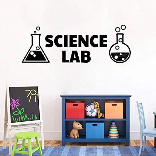 Schule Science Labs (XCGZ Wandsticker Chemische Flasche Aufkleber, Science Chemical Lab Vinyl Wandaufkleber, Schule Dekoration Wandtattoo, schwarz, 42 X 119 cm)