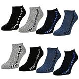 sockenkauf24 Herren Sport Sneaker Socken 8 oder 12 Paar - 16777 (43-46, 8 Paar | Farbmix)