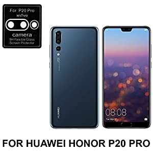 03® HUAWEI HONOR P20 PRO CAMERA Coloured 9H Hardness Anti-Scratch,Case Friendy Tempered Glass FOR CAMERA [Edge To Edge Screen Covered - HUAWEI HONOR P20 PRO] with free installation kit (CAMERA GUARD)