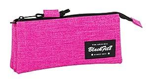 Blackfit8-Blackfit Blackfit8-Estuche portatodo Triple, Color Rosa, 22 cm (SAFTA 841732744)