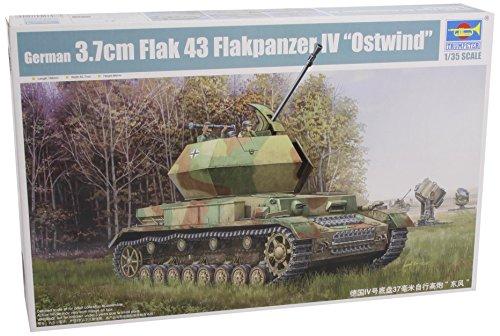 Trumpeter 1520 Flak 43 Flakpanzer IV Ostwind - Tanque de montaña alemán