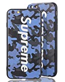 Sup Camo Case [ Kompatibel mit Apple iPhone 6, in Blau ] Supreme Hülle im Camouflage Design - Army Tarnmuster - Fühlbares 3D-Motiv